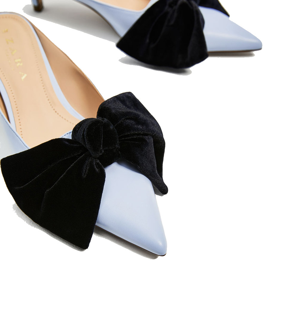 Zara Heeled Mule with Bow