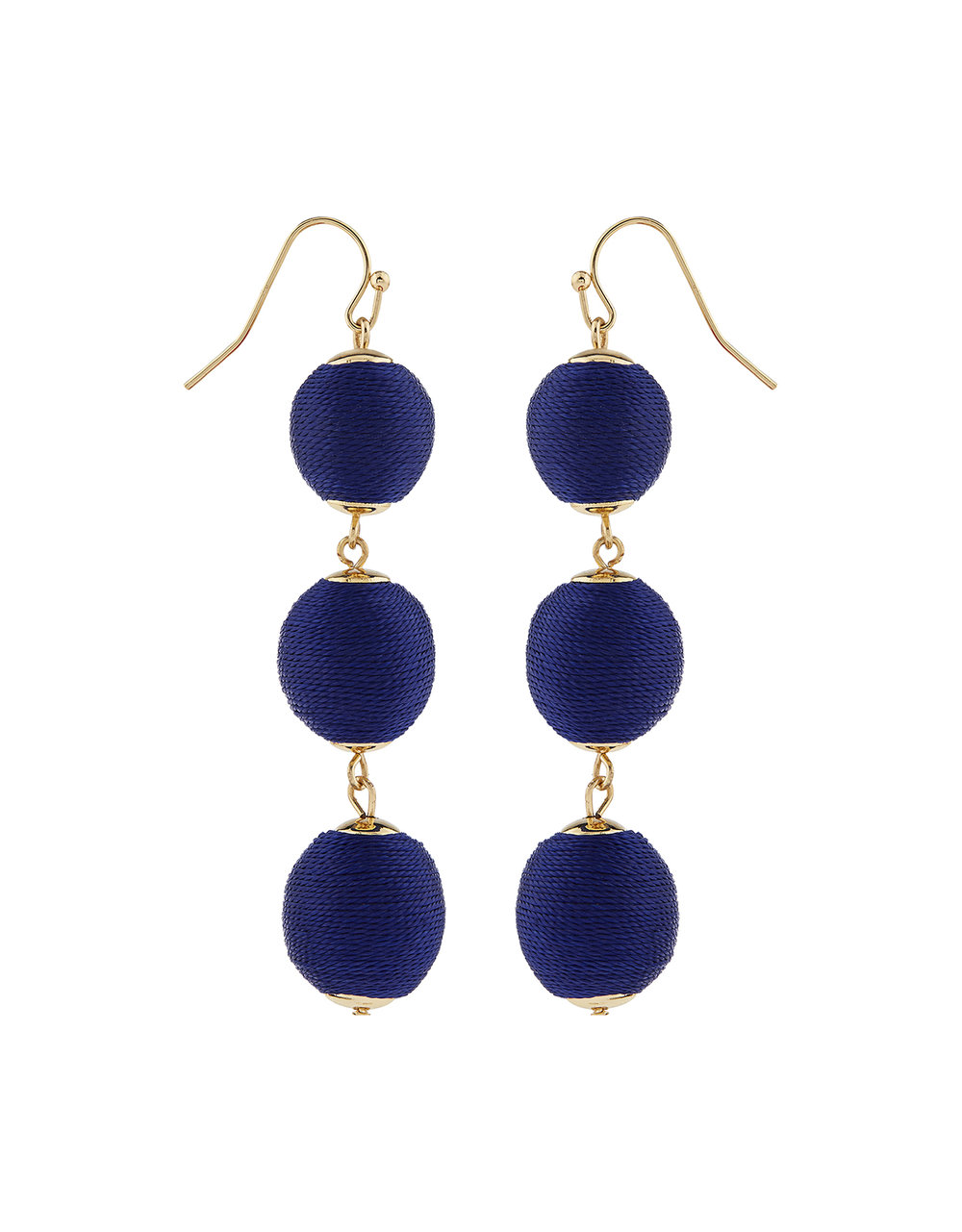 Accesorize THREAD WRAPPED BALL STATEMENT EARRINGS