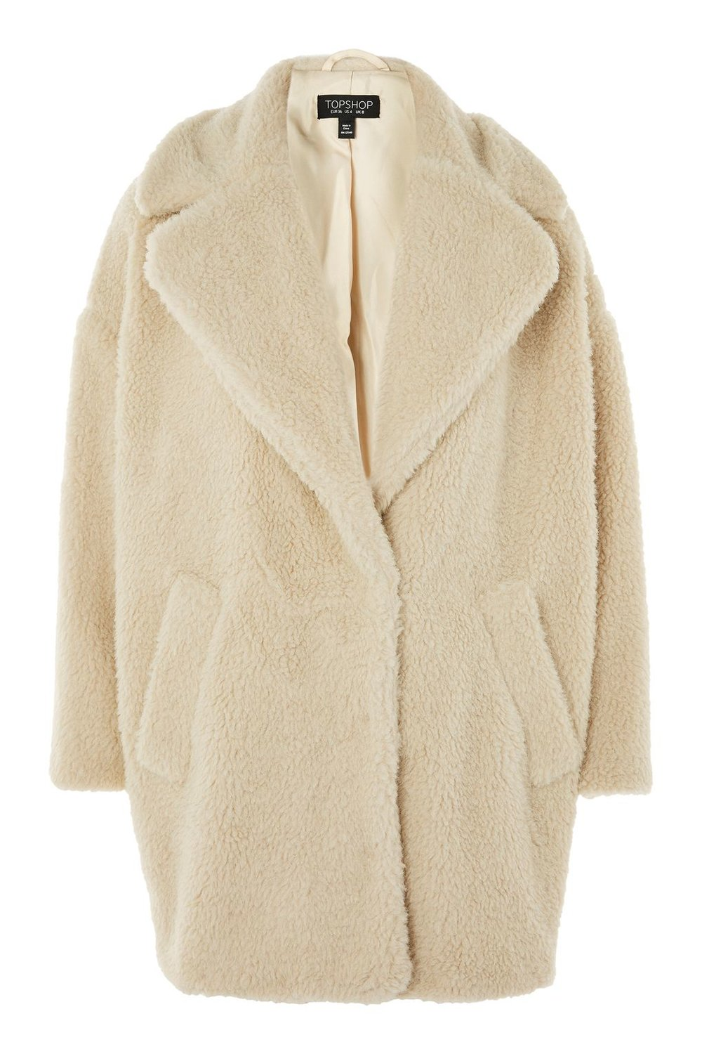 Topshop AW17 Borg Cocoon Coat