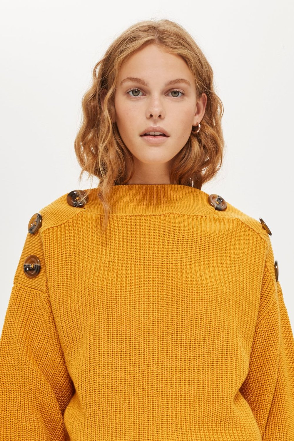 Topshop AW17 Button Detail Rib Jumper
