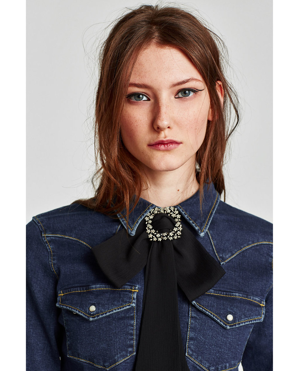 ZARA BOW NECKLACE WITH BROOCH