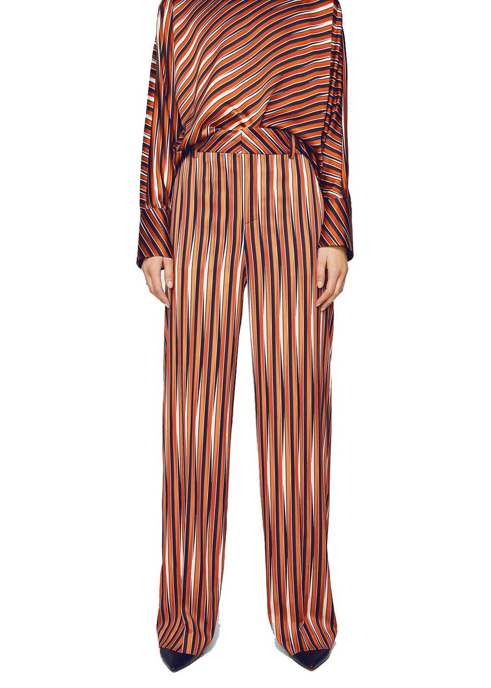 Mango Satin Striped Set