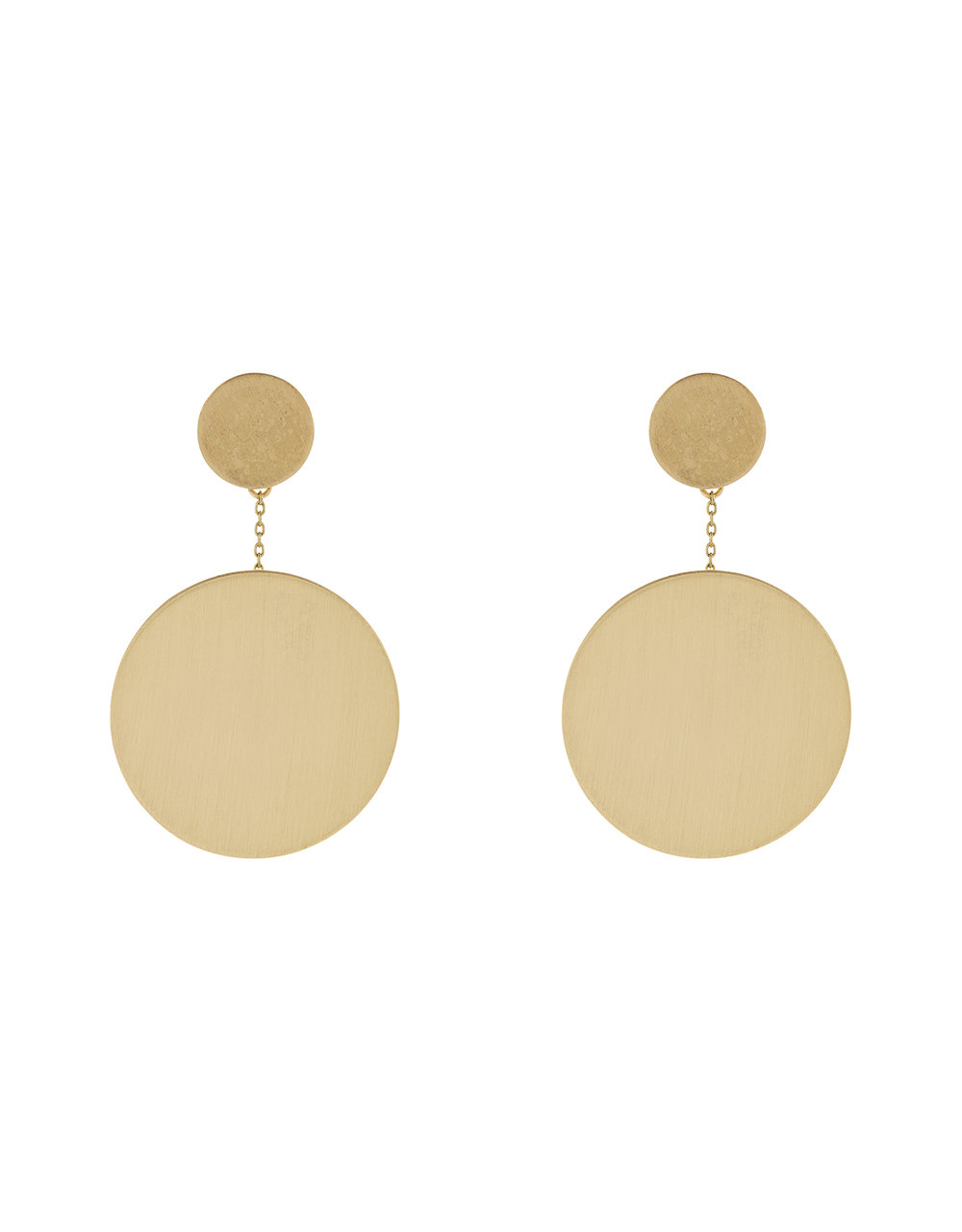 Accessorize Brush Disc Drop Earrings