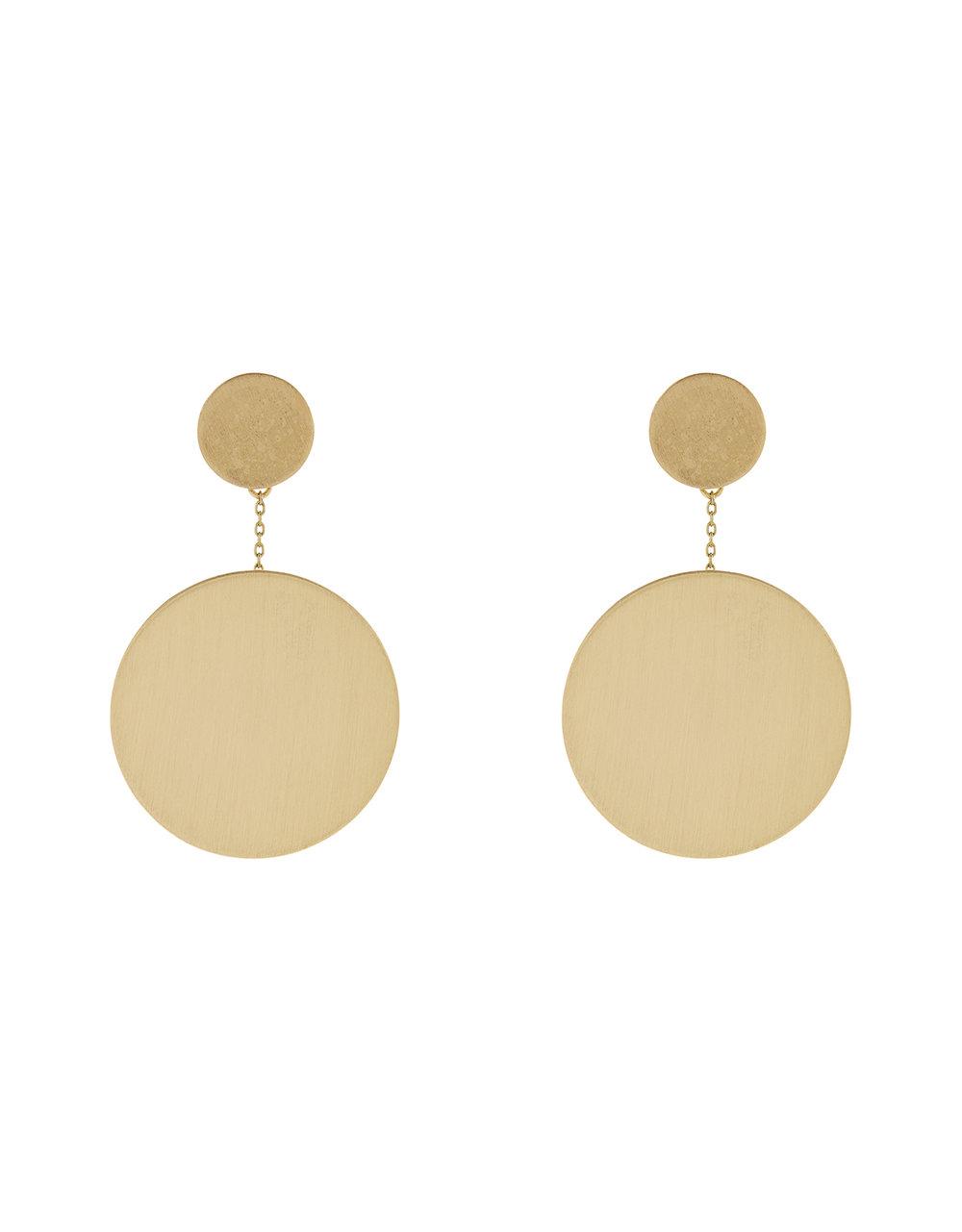 Accessorize Brush Disc Drop Earrings