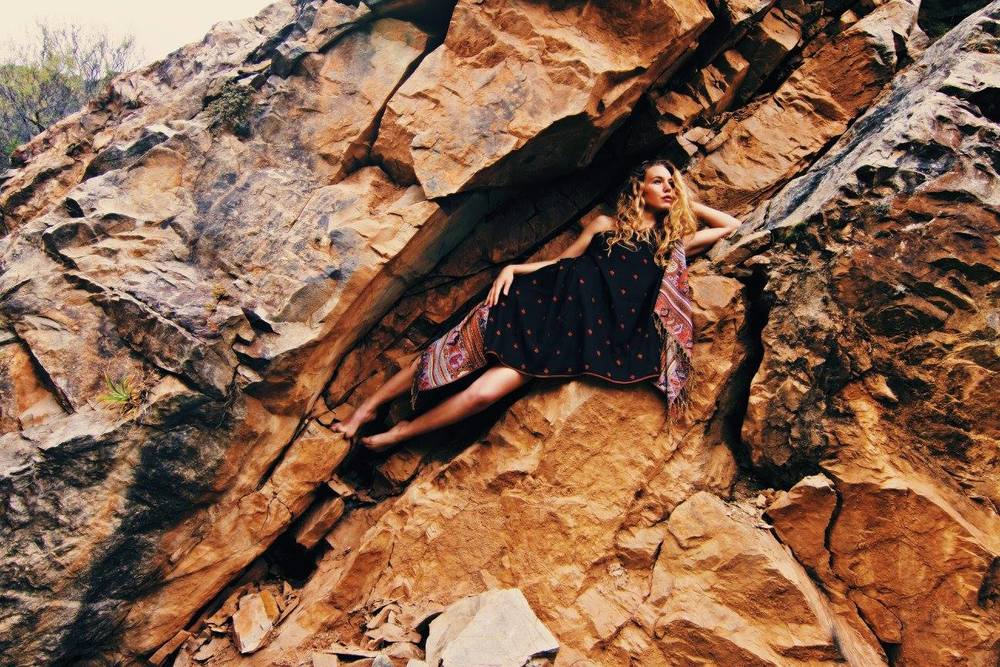 "Inspiration and Awareness - This is one of my best friends and founder of Hoja Nueva, Samantha Zwicker. She is the number one most inspiring person to me on planet earth. Through collaborating under ""Fashion for Conservation, we have been able to  ""move mountains,""  engaging people all over the world who have expressed that they would not have otherwise been interested in the topic if it wasn't for our work."