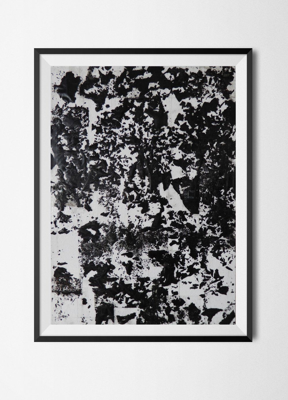 Fragments 5, 2015 Burnt papers and tape on paper 42 x 29,7 cm Signed at the back