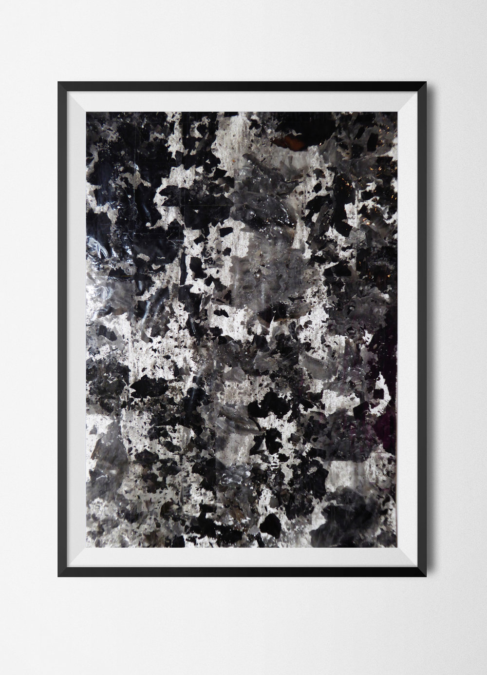 Fragments 6, 2015 Burnt papers and tape on paper 42 x 29,7 cm Signed at the back