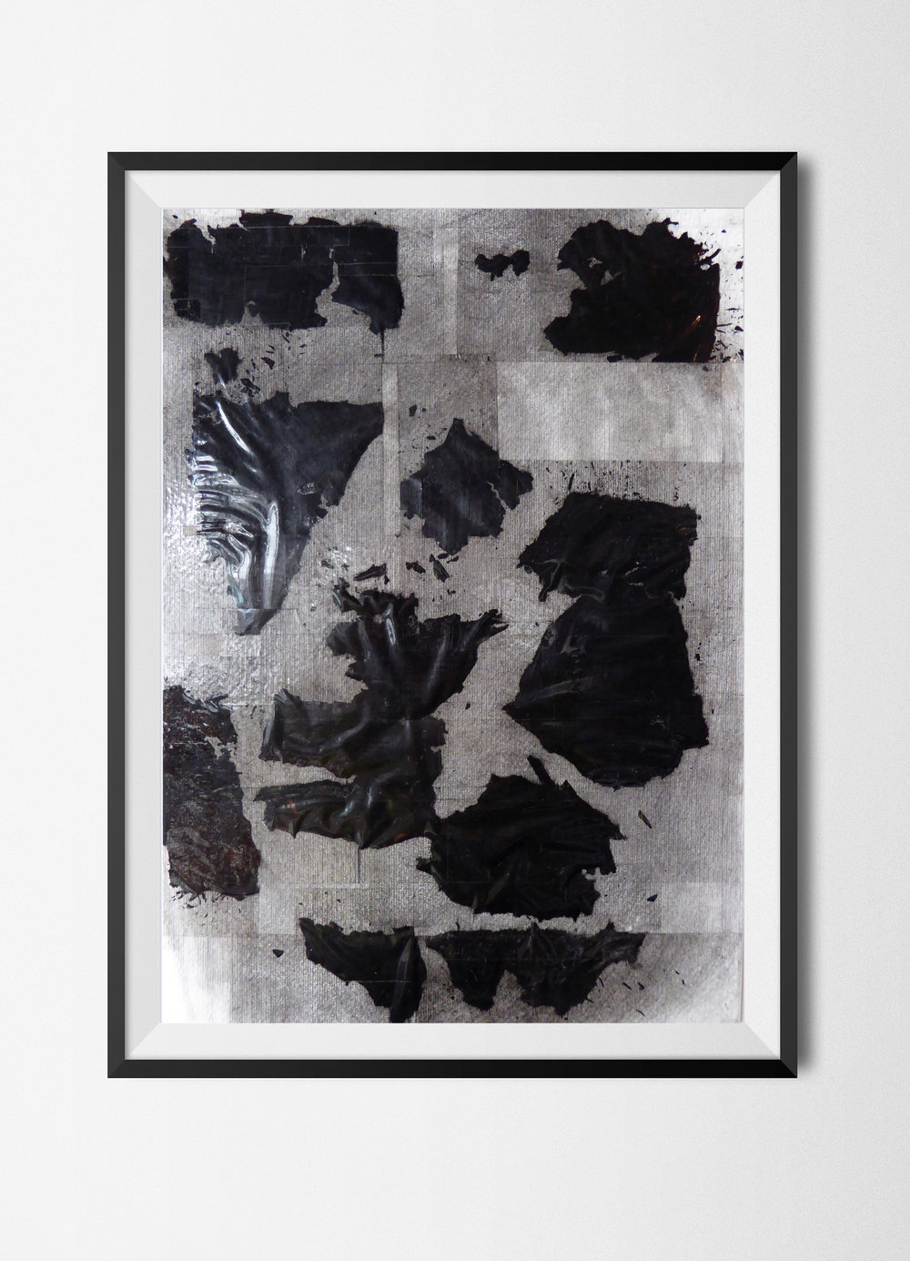 Fragments 8, 2015 Burnt papers, ashes and tape on paper 42 x 29,7 cm Signed at the back
