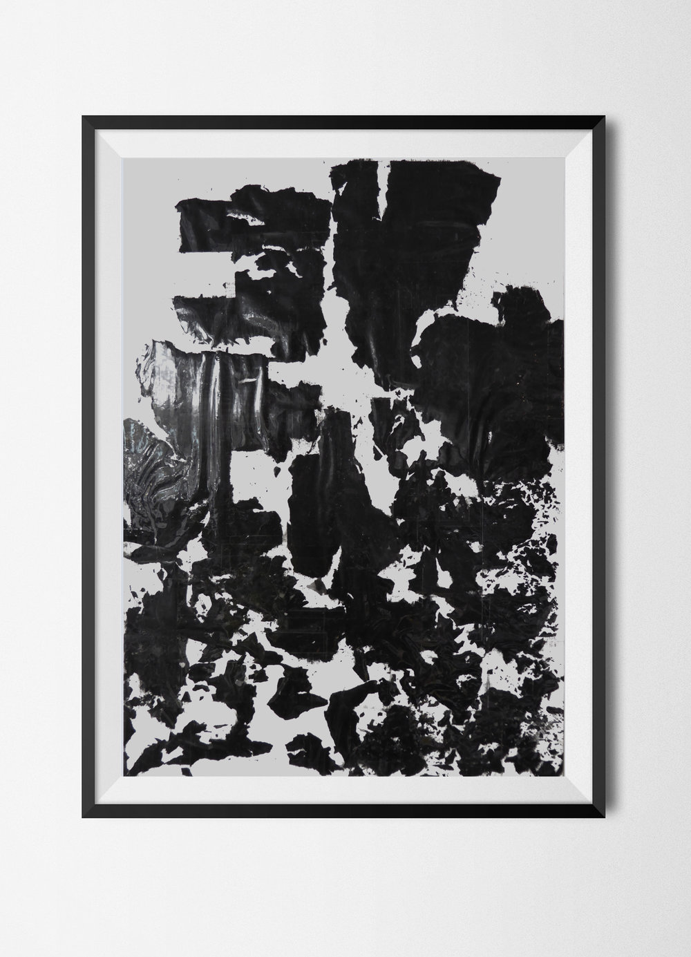 Fragments 3, 2015 Burnt papers, ashes and tape on paper 42 x 29,7 cm Signed at the back