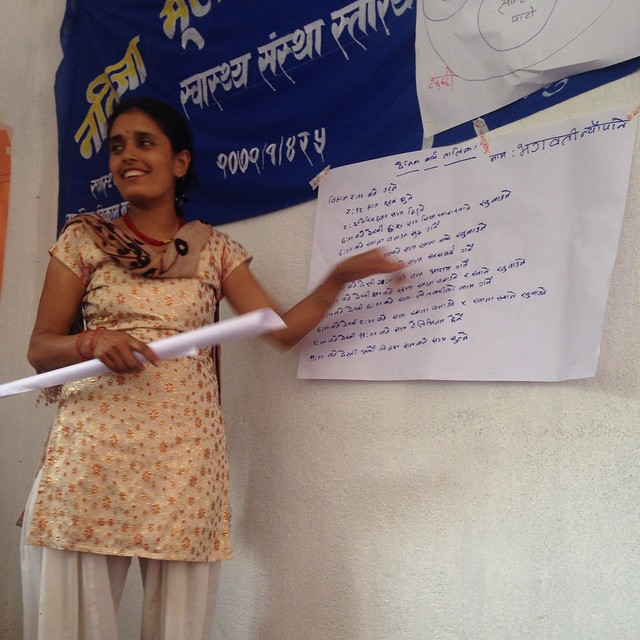 Our participants got some #LeadershipTraining today in our #PRA training Day 2. We've learned and practiced our new tools and skills, and are ready to put them to the test. Tomorrow we'll go out in #Karmidanda and make our #monsoon protection plan. Wish us luck! #NepalEarthquake #CommunityDriven #Development #ParticipatoryDevelopment #ParticipatoryRuralAppraisal #RebuildKarmidanda