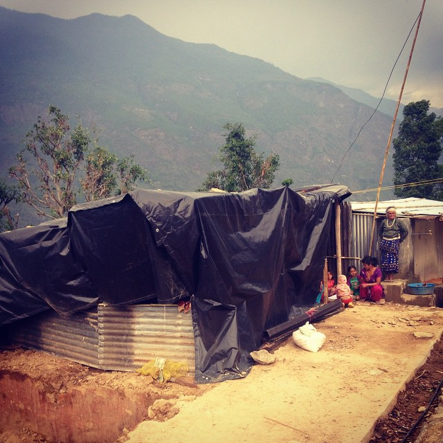 Took a closer look at #TemporaryStructures around #Karmidanda today. There are at least five like this one that are in no way safe for the coming #monsoon. #NepalEarthquake #Tikchhaina #LeakyShelter #DisasterRelief #NeedTin #RebuildKarmidanda