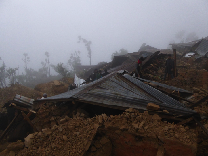 A snapshot from Karmidanda, a village in north central Nepal, on the day of the earthquake.