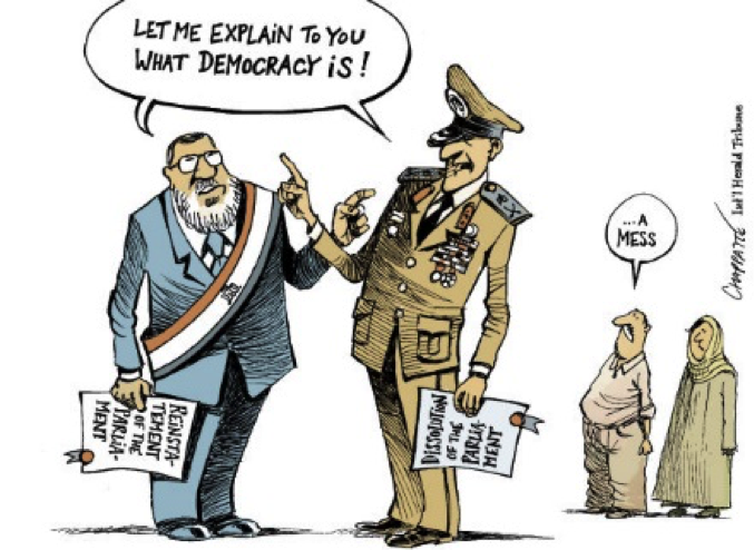 Drawn to describe Egypt, but illustrates the point exactly.