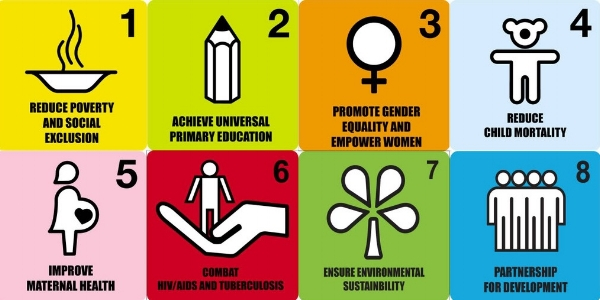 There were 8 Millennium Development Goals, credited with some huge gains like saving more than 20 millions of lives from infectious disease and birth-related problems.