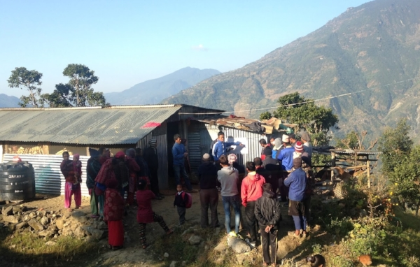 Our partner organization, Share Nepal, facilitating a project planning meeting in the village.