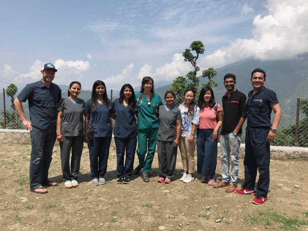 Our dental team after 2018 health camp in Karmidanda, Nepal.