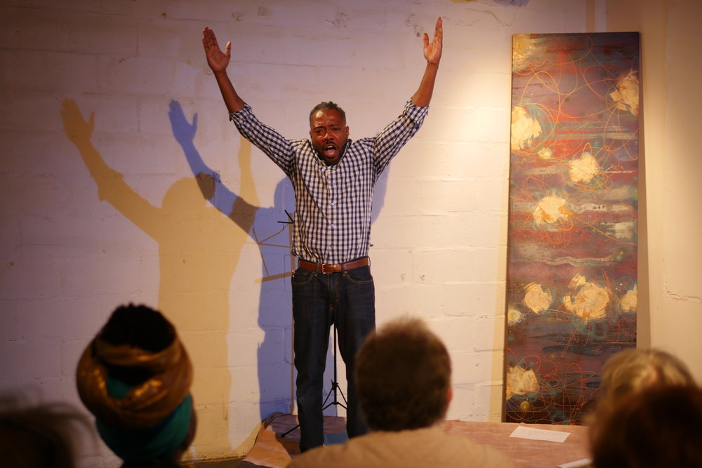Al Letson performing new work at BABS'LAB