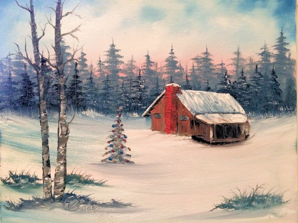 Country Cabin at Christmas.JPG