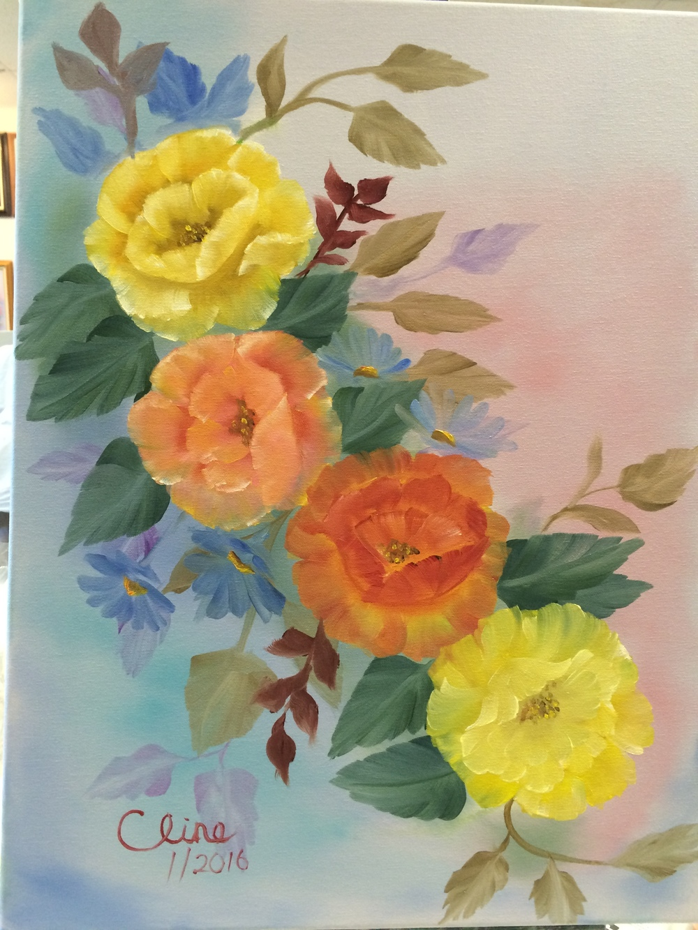 Yellow and Orange Roses