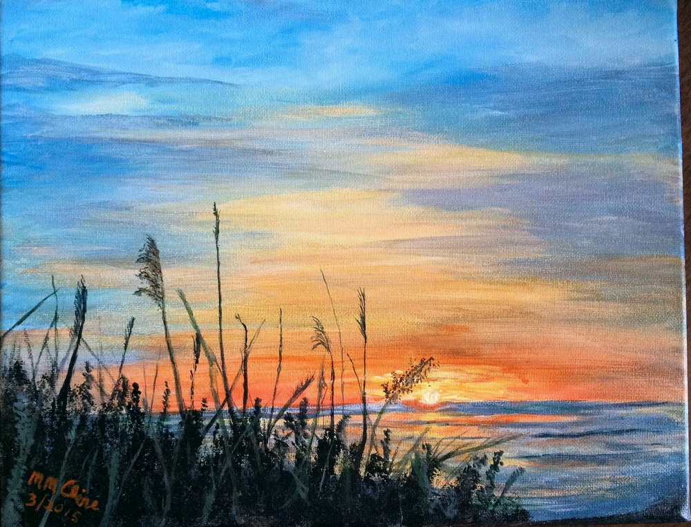 Tybee Sunset in acrylic