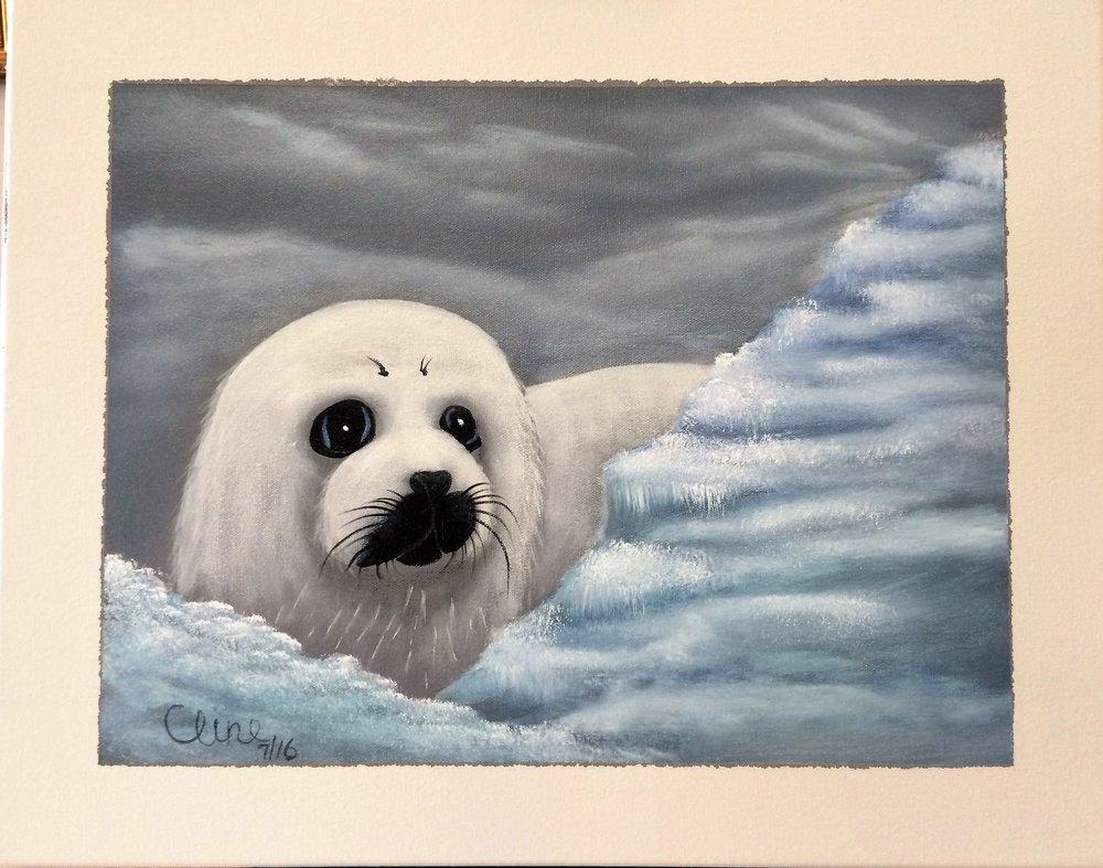 """Baby Harp Seal"""