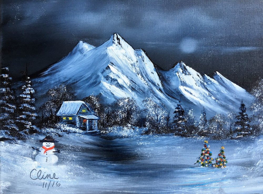 """Moonlit Mountain Christmas"""