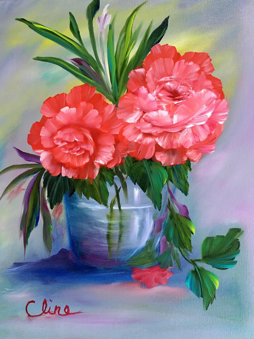 """""""Red Roses in Vase"""""""
