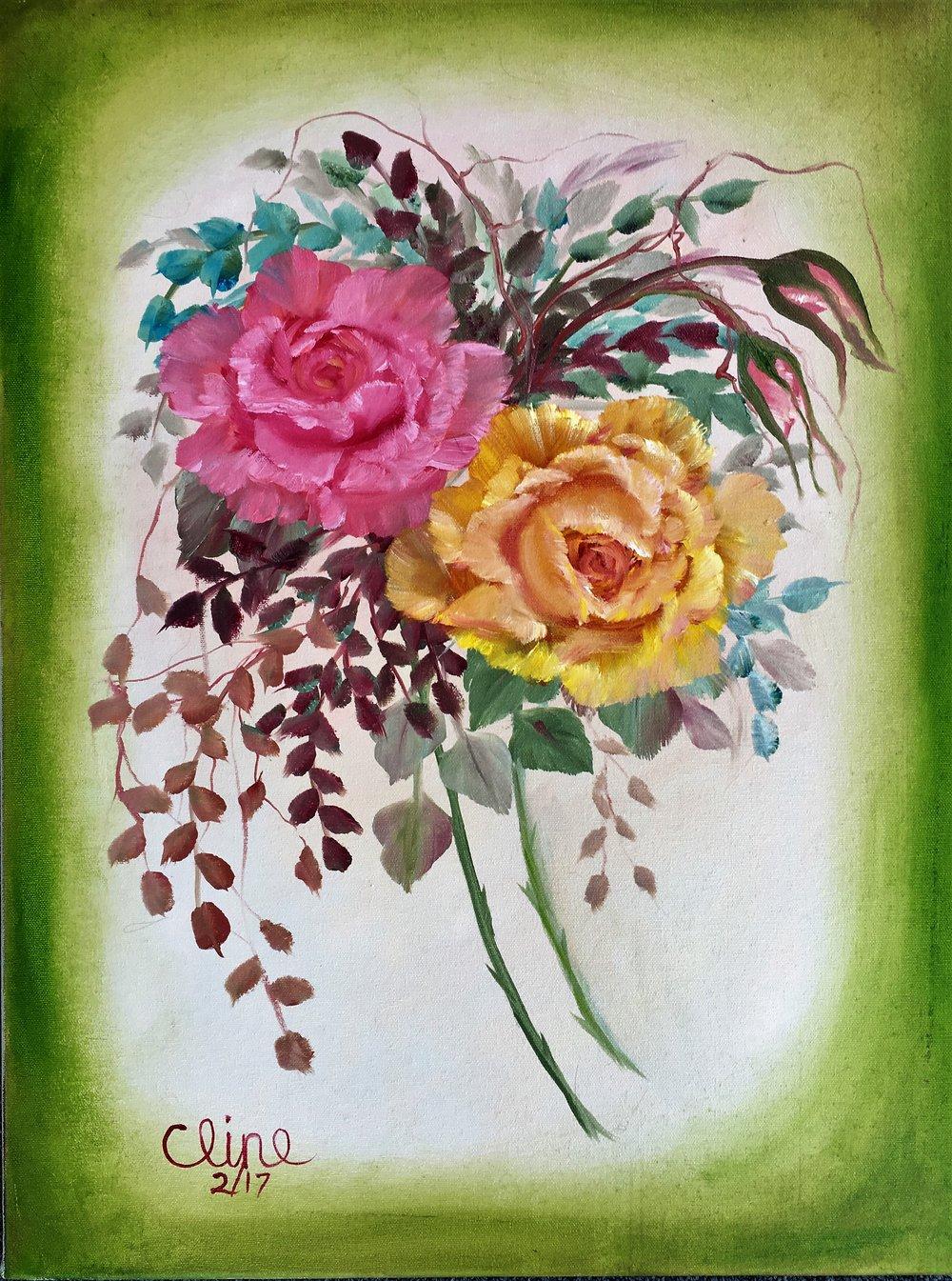 """""""Pastel Tea Roses"""""""