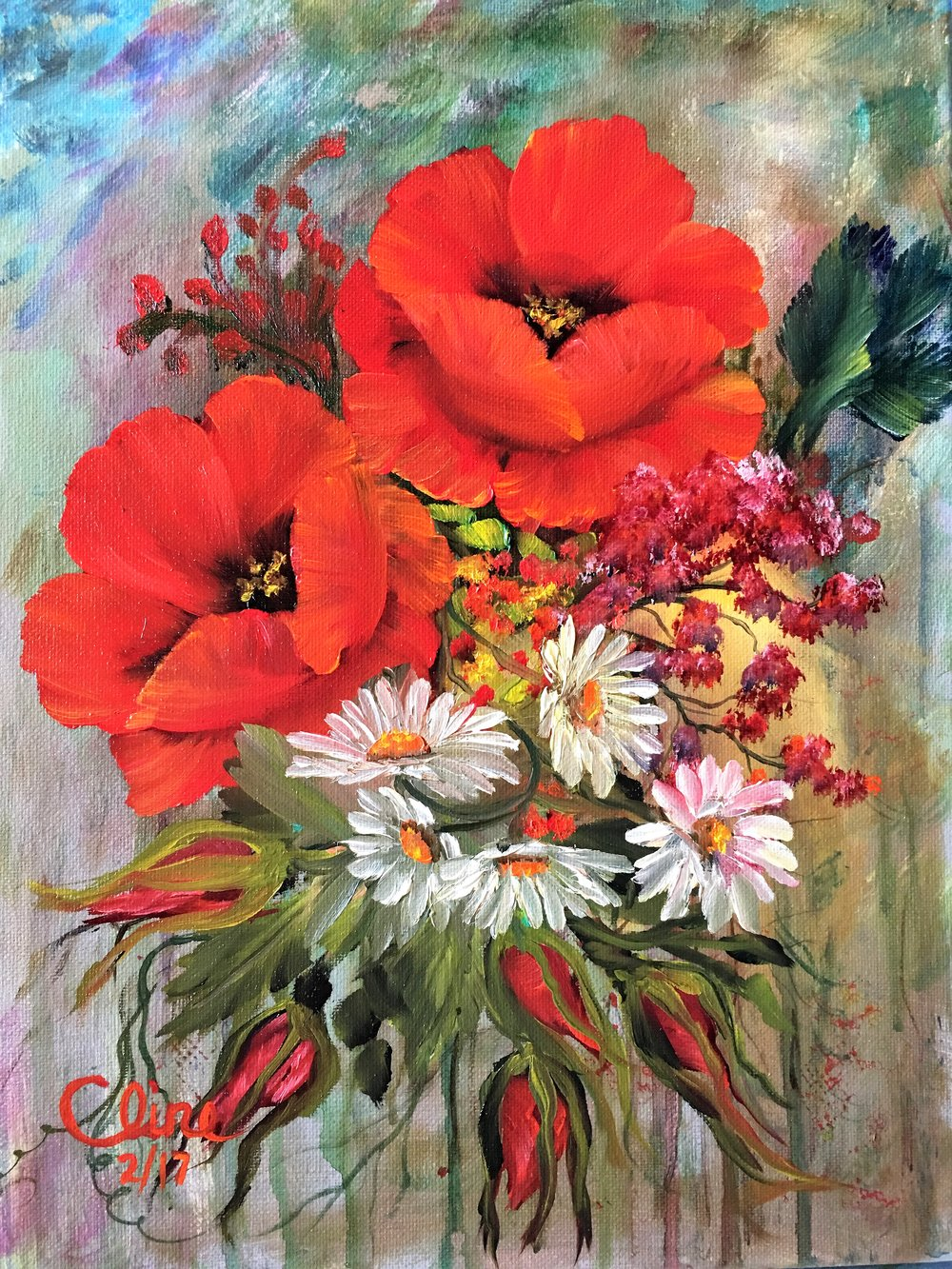 """Poppies and Daisies"""