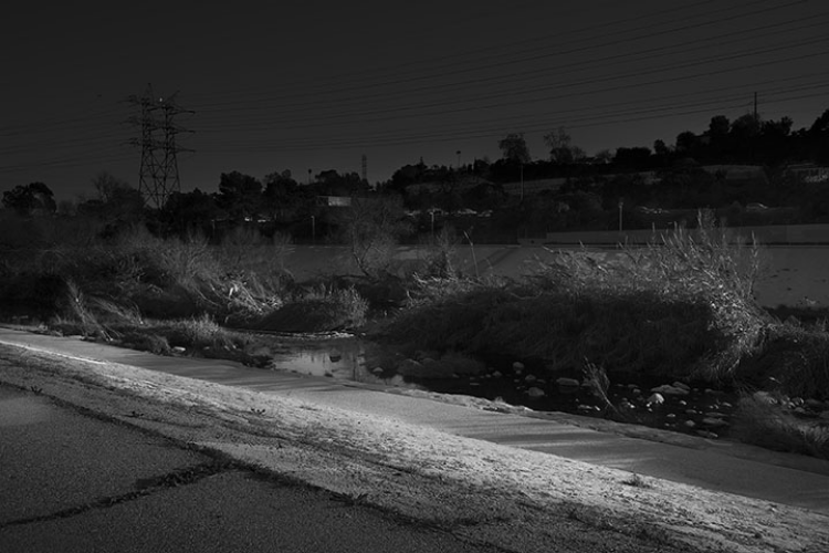 Zoe Crosher, Untitled L.A. River no.1 from LA-LIKE: Day For Night (Sunlight as Spotlight), 2015, digital c-print, © ZC International 2015, collection of Marla and Jeffrey Michaels