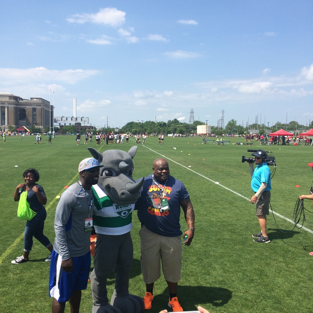 Former Philadelphia Eagles, Hollis Thomas and Ike Reese, CRC 2015