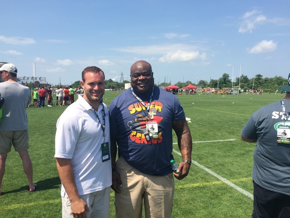 Dr. Jim with former Philadelphia Eagle, Hollis Thomas, CRC 2015