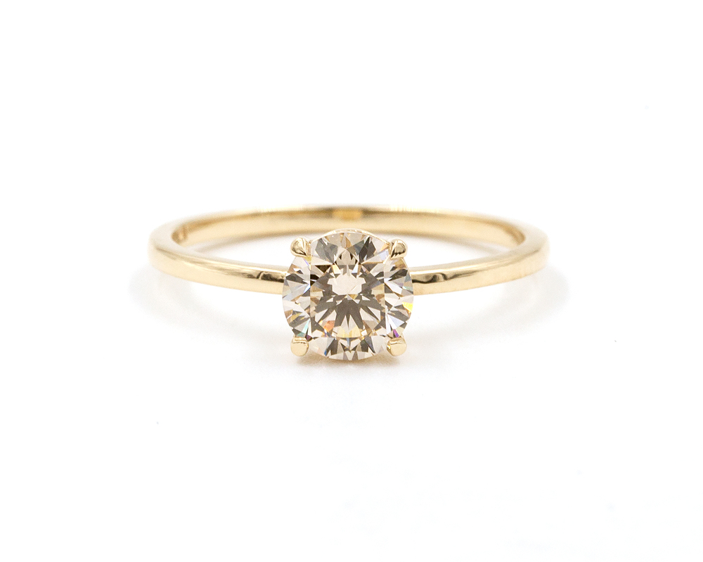 079Carat Champagne Diamond Solitaire Ring EVERETT