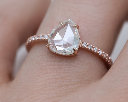 engagement rings cut tiffany diamond drop pear tear teardrop