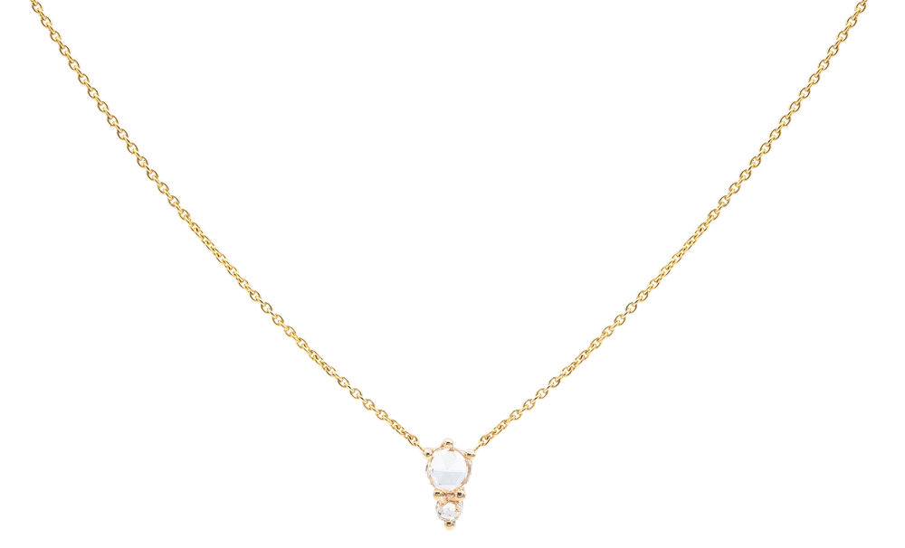 Odelia Rose Cut Charm Necklace EVERETT