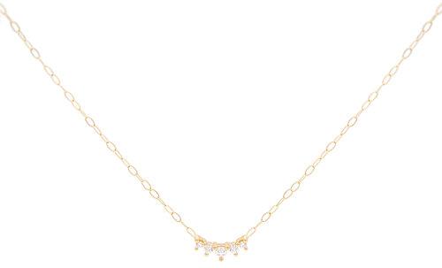 Kaya tiny diamond charm necklace everett kaya tiny diamond charm necklace aloadofball Images