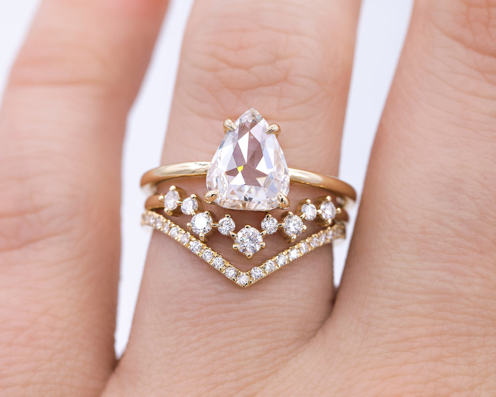 1.74-Carat Rose Cut White Diamond Solitaire — EVERETT
