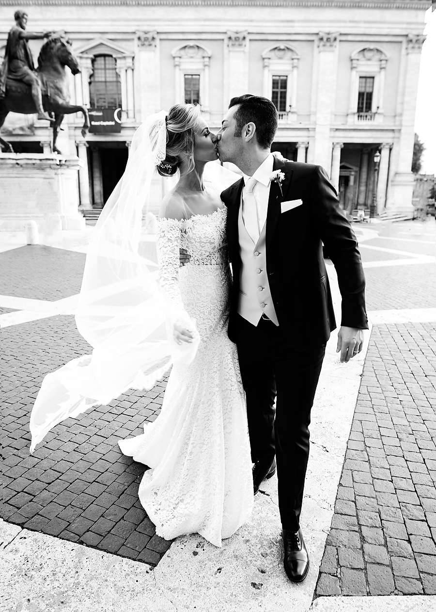 Anna Victoria and Luca Ferreti get married in Rome, Italy on May 14th, 2016