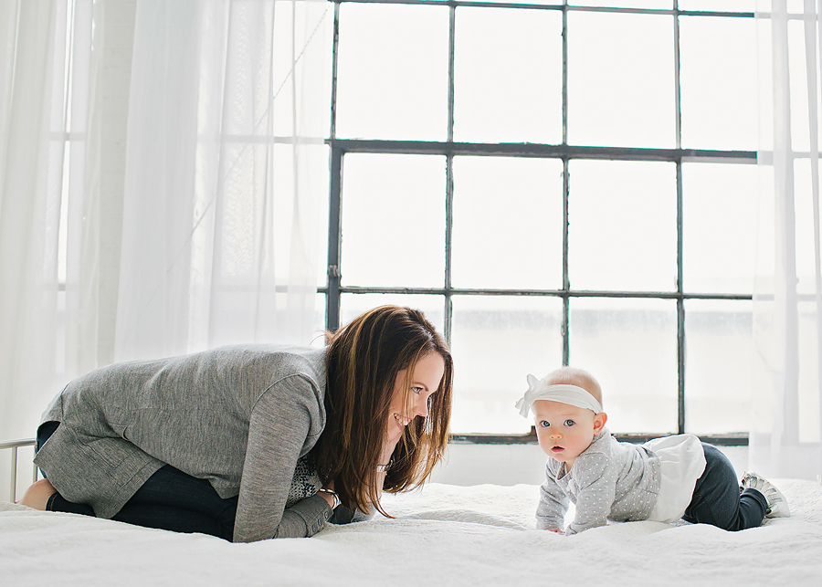 These soft greys were wonderful neutrals for this family session!