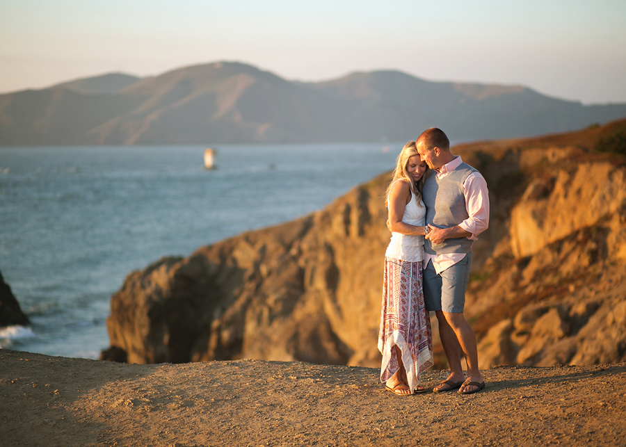 Kristy and her husband both wore flat, comfortable sandals to their session in San Francisco. Sandals worked well for the ocean/beachy vibe.