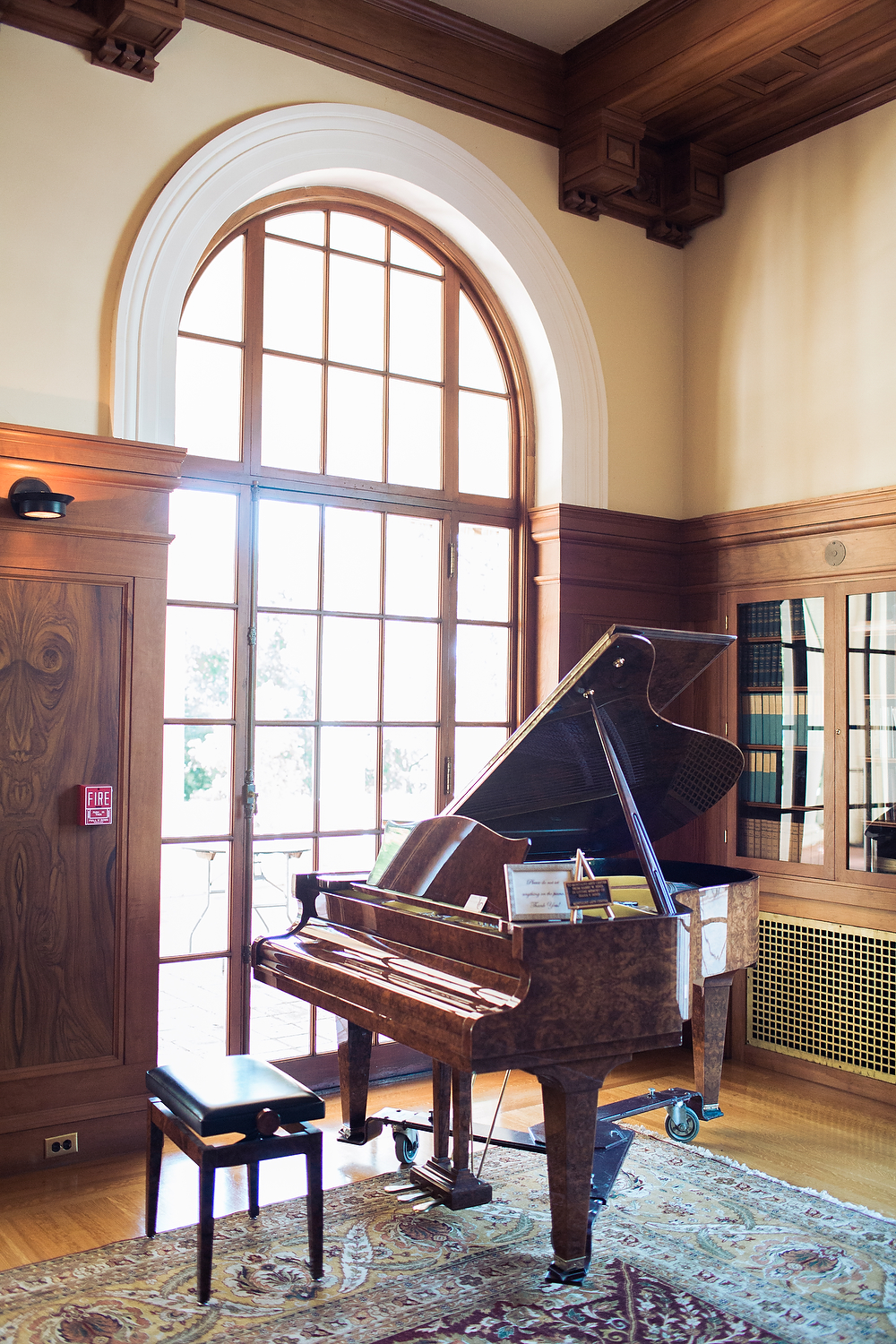 Musicians and guests are invited to play on this antique grand piano