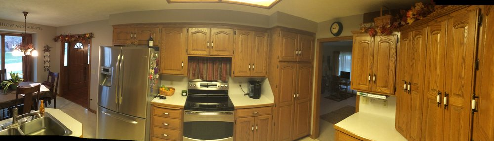 Before - cooking and prep area