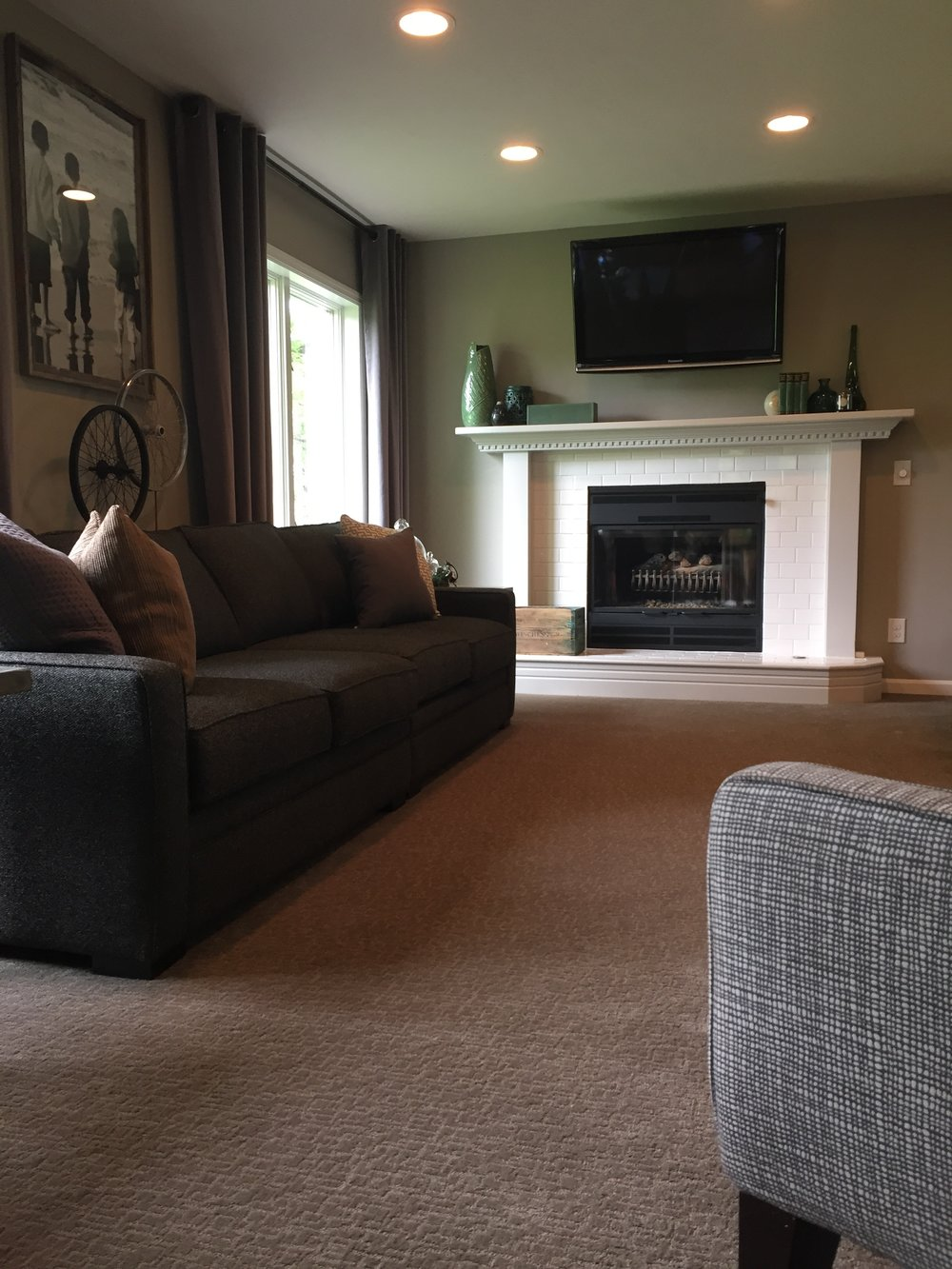 After - Living room fireplace wall
