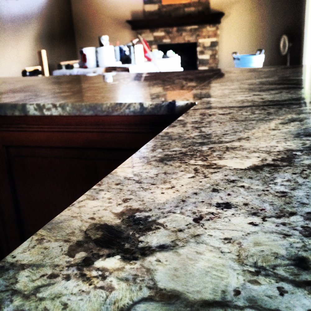 The new kitchen got the five star treatment as well with these amazing granite tops we had specially brought in from brazil.