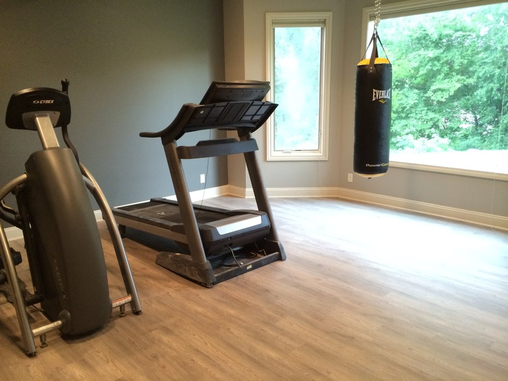 After - Work out room is a must for every mom and dad on the go!