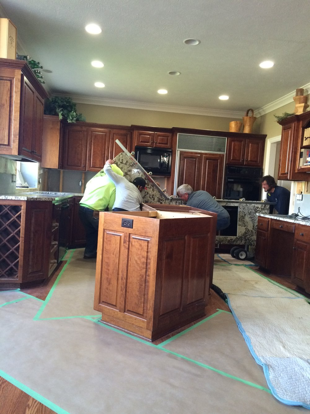 Midway - Granite installation