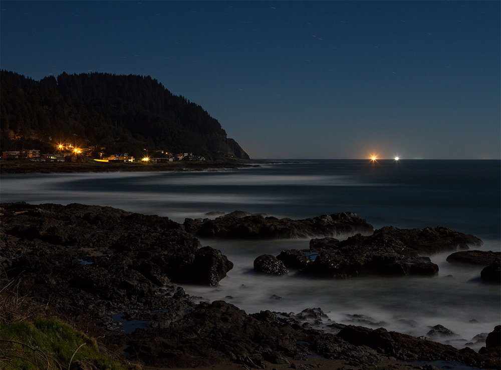 Yachats By Full Moon