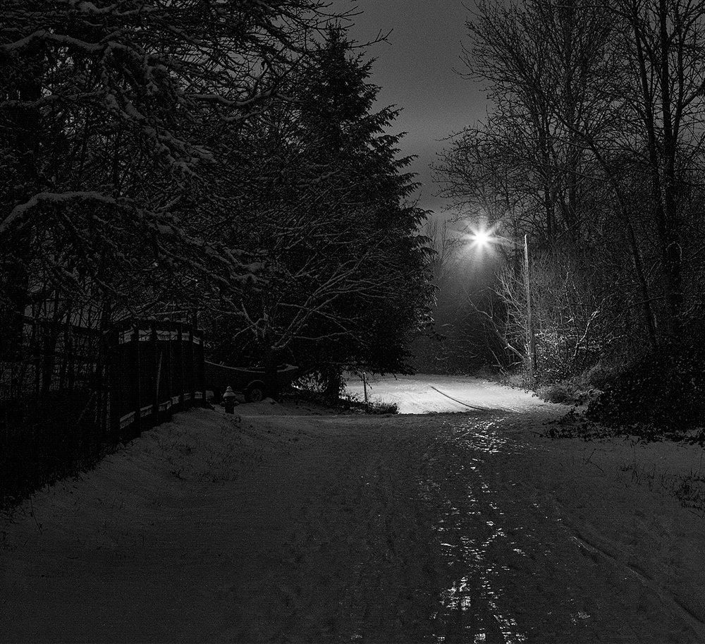 Icy Path - B&W