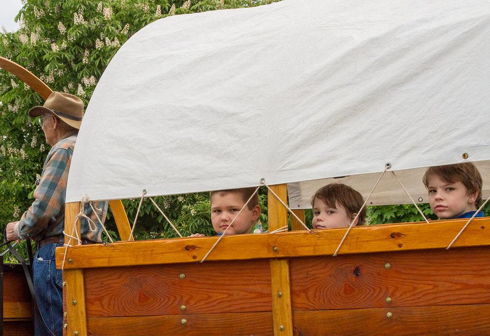 Three Boys in a Wagon