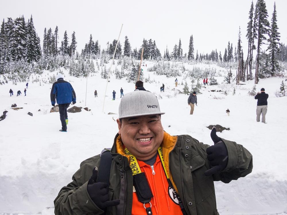 Freezing my okole off at Mt Rainier